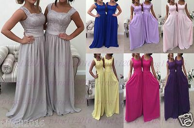New Long Chiffon Formal Party Wedding Prom Evening Bridesmaid Dress Ball Gown