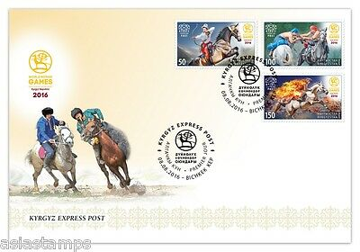 First Day Cover. World Nomad Games. Kyrgyz Express Post 2016
