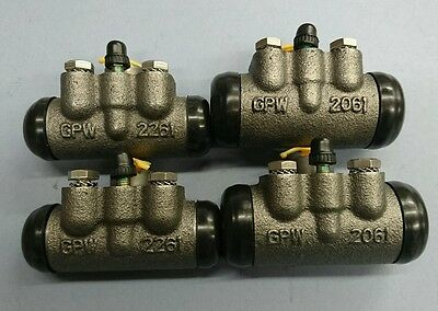 "Set Of Willys Mb, Ford Gpw Front And Rear Brake Cylinders One Car Set 1"" & 3/4"""