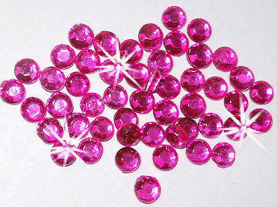 144 2.5mm iron-on HOT PINK Rhinestone diamante bead diy cardmaking embellish