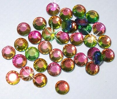 2.5mm iron-on Rainbow ab Rhinestone diamante bead cardmaking craft diy embellish