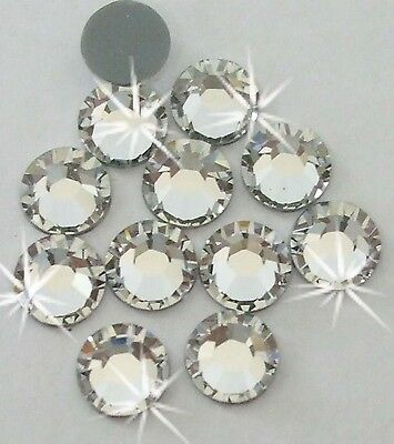 4mm iron-on CLEAR silver Rhinestone diamante bead cardmaking craft diy embellish