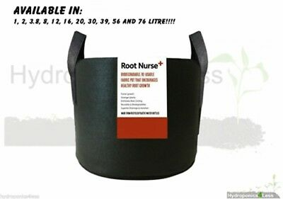 Root Nurse+ Fabric Pot Black Smart Grow Aeration Container Bag Pouch Hydroponics