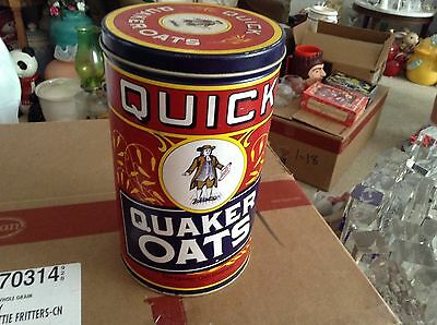 Quick oats 1990 cereal metal tin