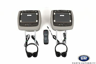 13-15 Traverse Acadia Headrest DVD Player Package 23109019 Titanium Leather OEM