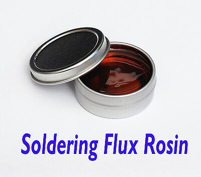 Solid Soldering Flux Rosin Colophony   0.5 Oz.  in  Metal Tin Containers