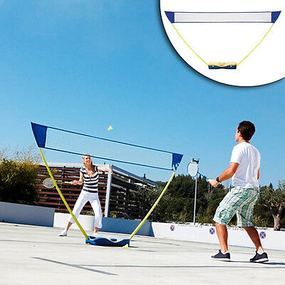 Folding Adjustable Badminton Volleyball Sets With Stand Battledore Outdoor Sport