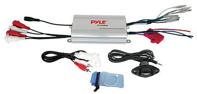 Pyle PLMRMP3A 800W 4-Channel Waterproof MP3/iPod Marine Power Amplifier