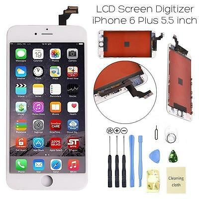 """New iPhone 6 Plus 5.5"""" White LCD Digitizer Screen Assembly Replacement Frame USA"""