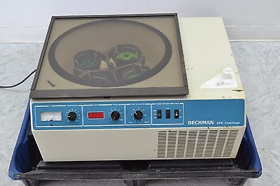 Beckman GPR Refrigerated Centrifuge w/ Rotor and Buckets.