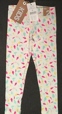 NEW COTTON ON KIDS Girl Leggings Pants Size age toddler 2 years old RRP$14.95