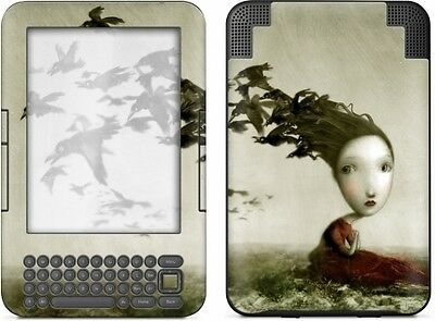 Gelaskins Protective Vinyl Skin for Kindle Keyboard - Crows