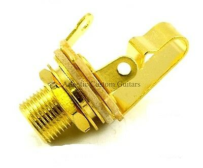 "SWITCHCRAFT #L11 MONO 1/4"" GOLD PLATED JACK with EXTRA LONG THREAD"