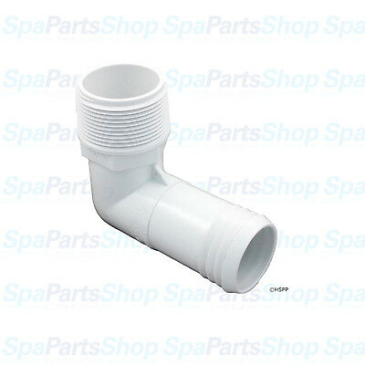 "Spa Hot Tub Pool Manifold PVC Barb Adapter 90° 1 1/2""MPT x 1 1/2"" Hose 411-6520"