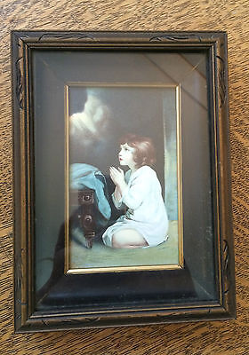 The Infant Samuel Print Attributed to Sir Joshua Reynolds Framed 19.5cm x 14.5cm
