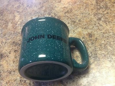 Beefy Style Green Speckled Stoneware John Deere Coffee Mug