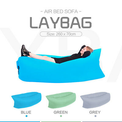 Lazy Lounge Fast Inflatable Lamzac Sleeping Laybag Beach Air Lay Bag Camping Bed
