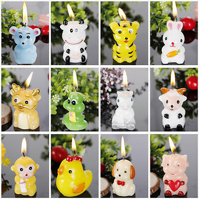 Lovely Animals Shape Candle Children Birthday Party Flameless House Decoration