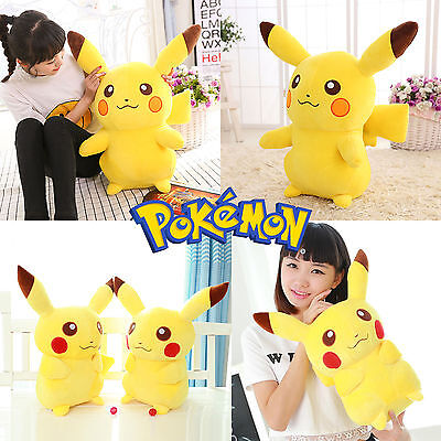 2016 Hot Pokemon Pikachu Anime Big Plush Toy Large Soft Stuffed Doll 13.8''/35cm