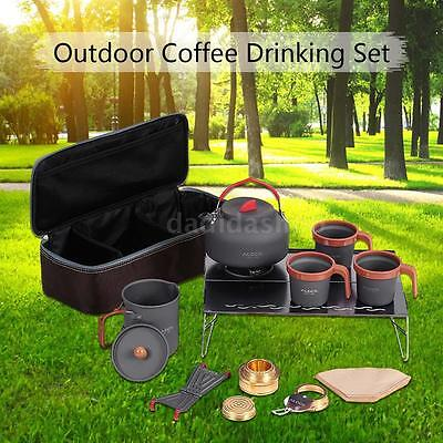 Outdoor Camping Hiking Backpacking Cookware Cooking Picnic Bowl Pan Pot B8A3