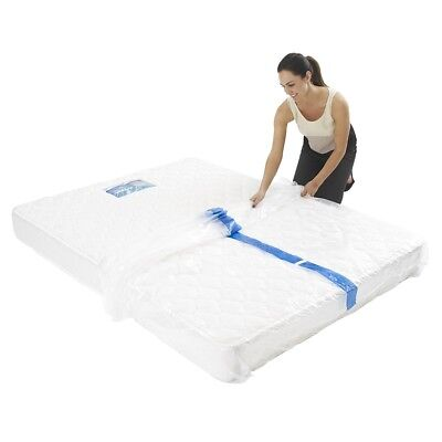 2 x Queen Size Mattress Protector Cover Plastic Protection Moving & Storage Bag
