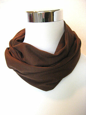 Baby TODDLER Child's solid Brown cotton jersey knit Infinity Scarf PHOTO PROP