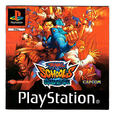 ★ Playstation PS1 - RIVAL SCHOOLS UNITED BY FATE - Spielanleitung Manual ★