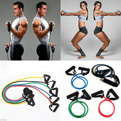 Body Exercise Latex Resistance Band Tube Workout Gym Chest Expander Fitness Tool