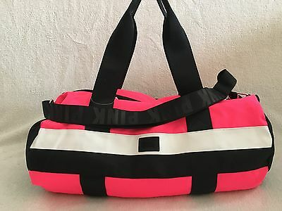 4Victoria Secret Pink Tote / Duffle Bag Gym Bag, Travel Carry On, Pink Multi Nwt