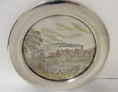 Vintage Reed & Barton Damascene Silver Rounding A Bend Plate Charger Le 334/1500