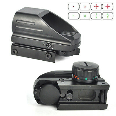 20mm Red/Green Tactical Dot Laser Sight Scope Reflex Picatinny Rail Holographic