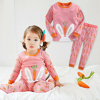 "Vaenait Baby Infant Toddler Kids Girls Clothes Pajama Set ""Secret Bunny"" 12M-7T"
