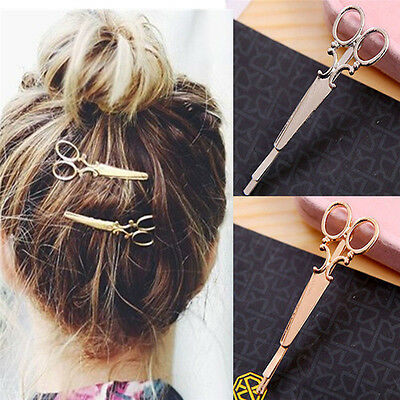 2X Fashion Scissor Shape Hairpins Hair Accessories Clip Hairpins for Women Girls