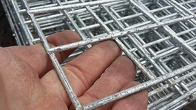 3 xGalvanised Welded Wire Mesh Panel 2400(8') x 1220(4' ) x 50mm x 50mm x 4.0mm