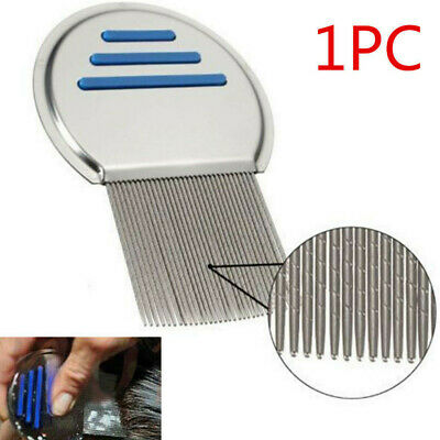 Hair Lice Comb Brushes Nit Free Terminator Fine Egg Dust Removal Stainless Steel