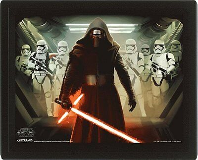 Star Wars Kylo Ren Stormtrooper Light Saber 3D Picture  Moving Wall Poster