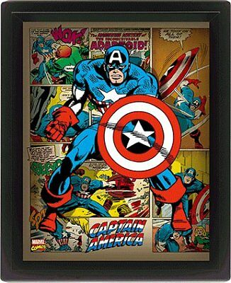Captain America Retro Comic Book Montage Marvel 3D Motion Poster Photo Official