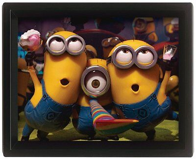 Minions Despicable Me Bob Stuart Kevin Picture 3D Moving Wall Poster Official