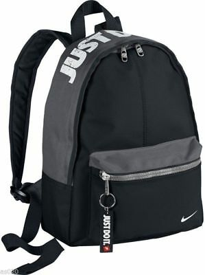 Nike Just Do It Black Backpack Rucksack Gym School PE Bag Kids Junior Boys Child