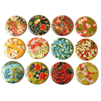 WASHI / CHIYOGAMI PATTERNS Set of 12 Large FRIDGE MAGNETS