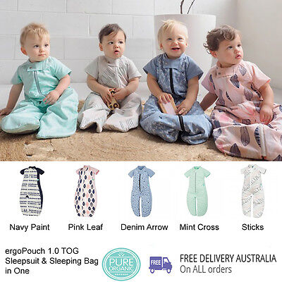 ergoPouch 1 TOG SLEEPSUIT + Sleeping BAG in One