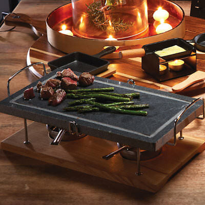 Artesa Hot Stone Grill with Marble Cooking Stone, Stand & Two Burners