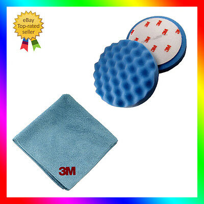 1 x 3M Perfect-it III 50388 Polishing Pad blue 150mm for Ultrafina SE + 3M cloth