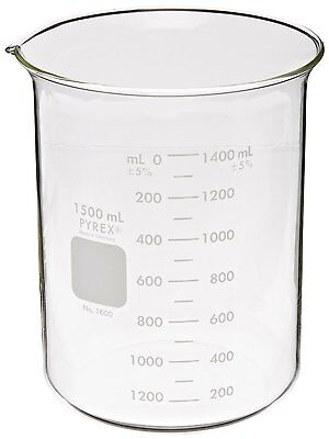 Corning 1000-1XL Pyrex Glass Beakers, 1500ML - 4 per pack