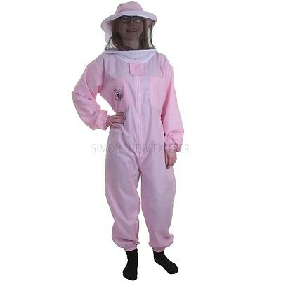 Buzz Basic Beekeeping Suit With Round Veil - Pink