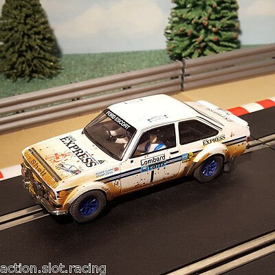 SCX Runs on Scalextric 1:32 Car - Ford Escort Mk II RS 1800 Lombard Clark #1
