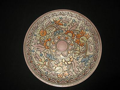 Charlotte Rhead Master Ceramist Crown Ducal Pastel Art Pottery Charger - MINT