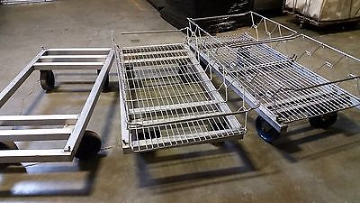 stainless steel basket with carts (nesting baskets)