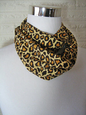 Cheetah Spots Baby Toddler kid's SMALL PHOTO PROP jersey knit Infinity Scarf