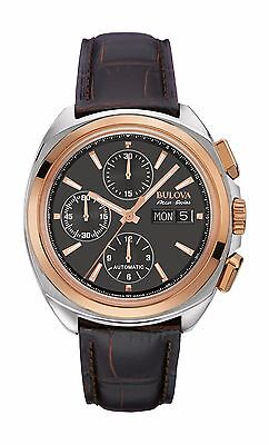 Bulova Accutron Men's 65B167 Accu Swiss Chronograph Black Dial Watch